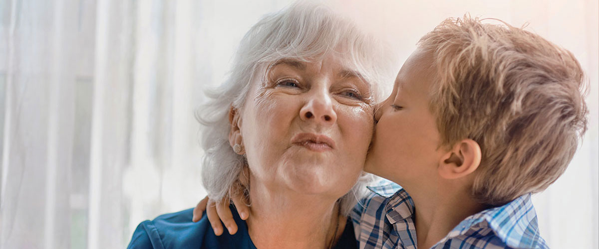 Woman with Grandson